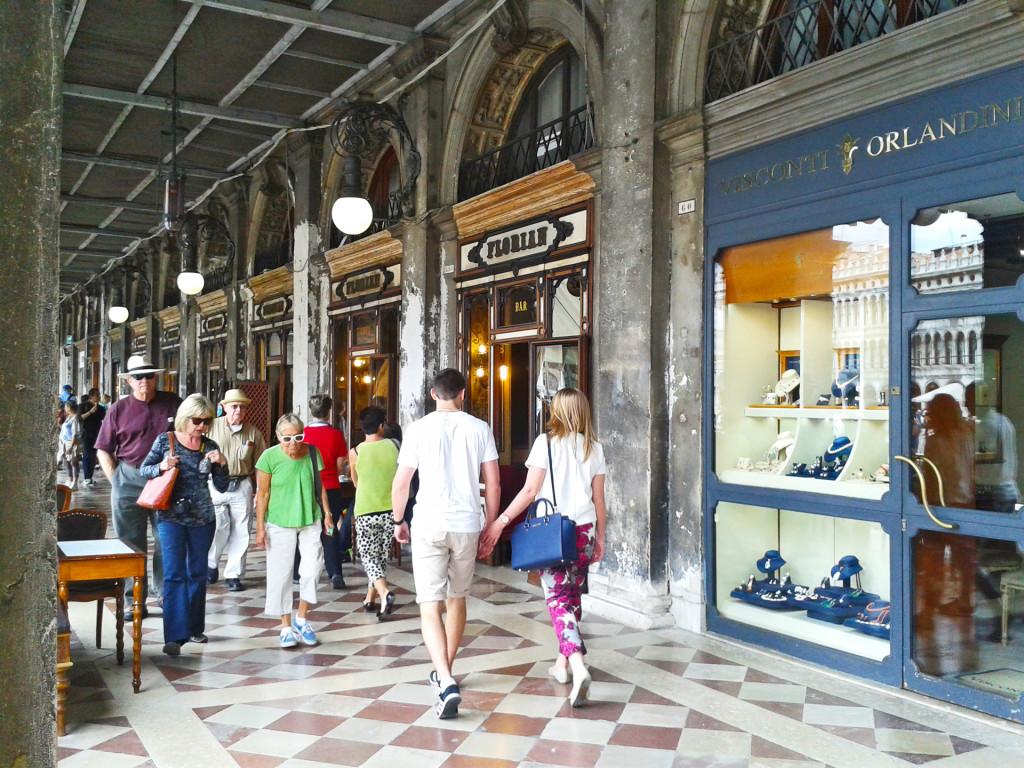 Венеция, знаменитое кафе «FLORIAN»