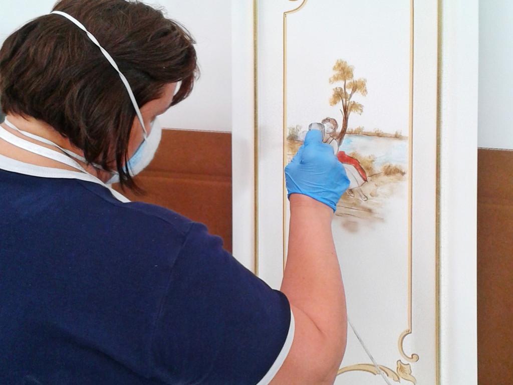Ручная роспись дверец для шкафа - фабрика «SILIK»
