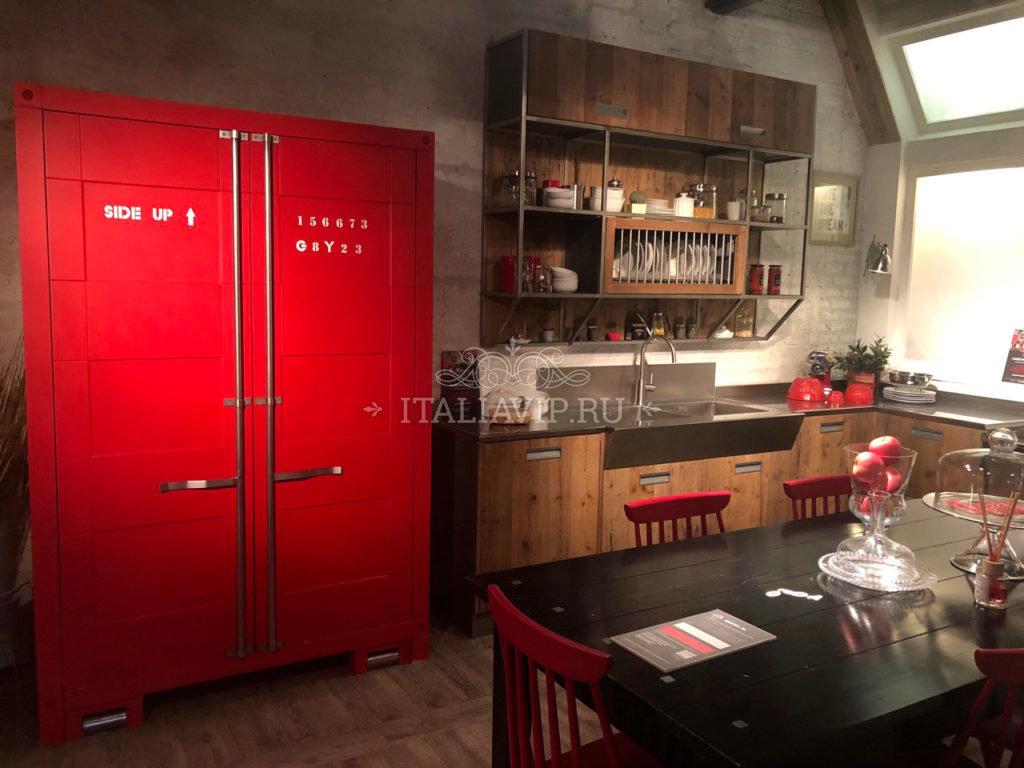 Кухня из Италии в индустриальном стиле