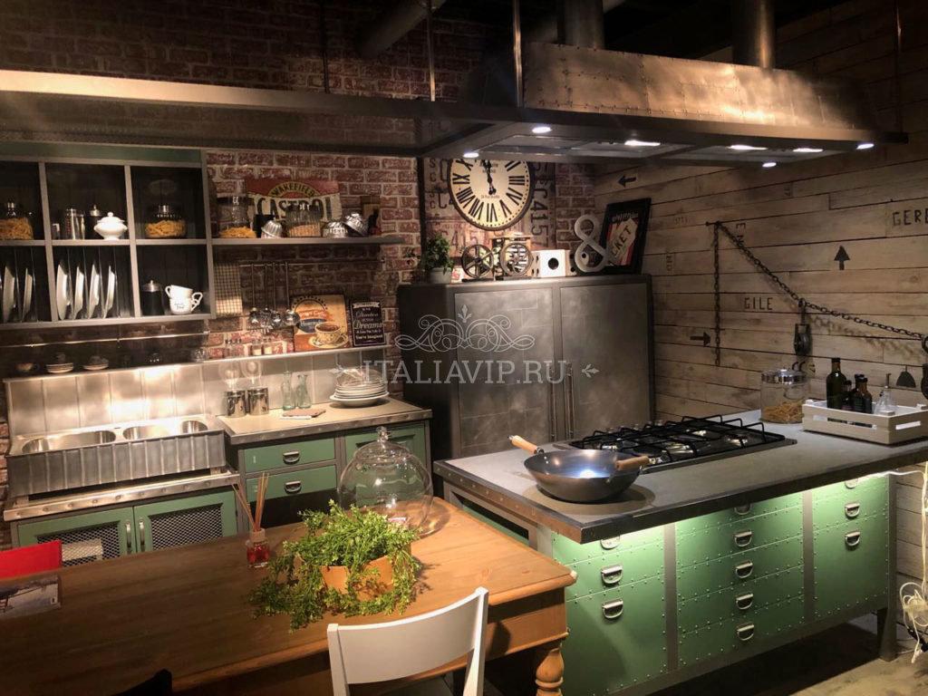 Кухонная мебель из Италии в индустриальном стиле